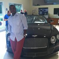 Apparatus Founder/Editor Maro Onokpise at a Wine & Cheese event hosted by Bentley Motors