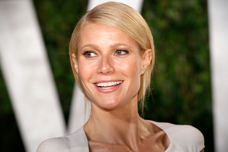 Actress Gwyneth Paltrow arrives at the 2012 Vanity Fair Oscar party in West Hollywood