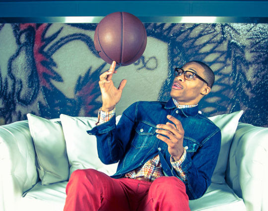 russell-westbrook and Barneys New York