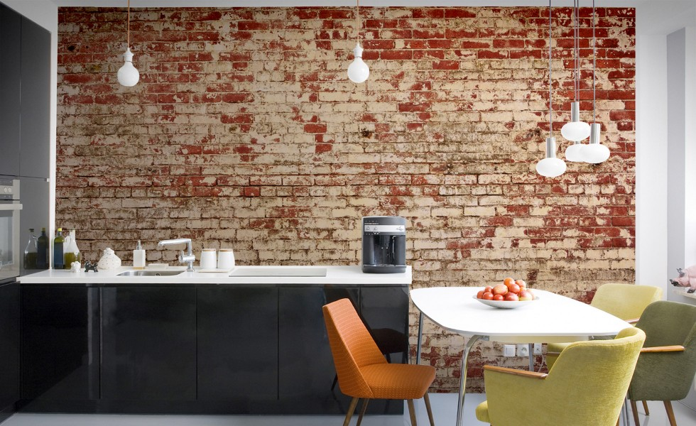 COOL FINDS MURALS BRICK EFFECT WALLPAPER APPARATUS
