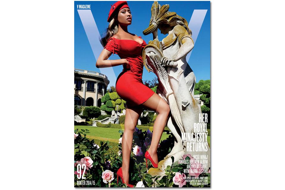 NICKI MINAJ FOR 'V' MAGAZINE'S WINTER 2014 ISSUE | THE APPARATUS MAG