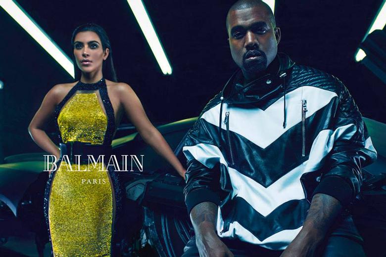 Kim Kanye Balmain2