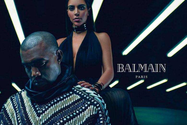 Kim Kanye Balmain3
