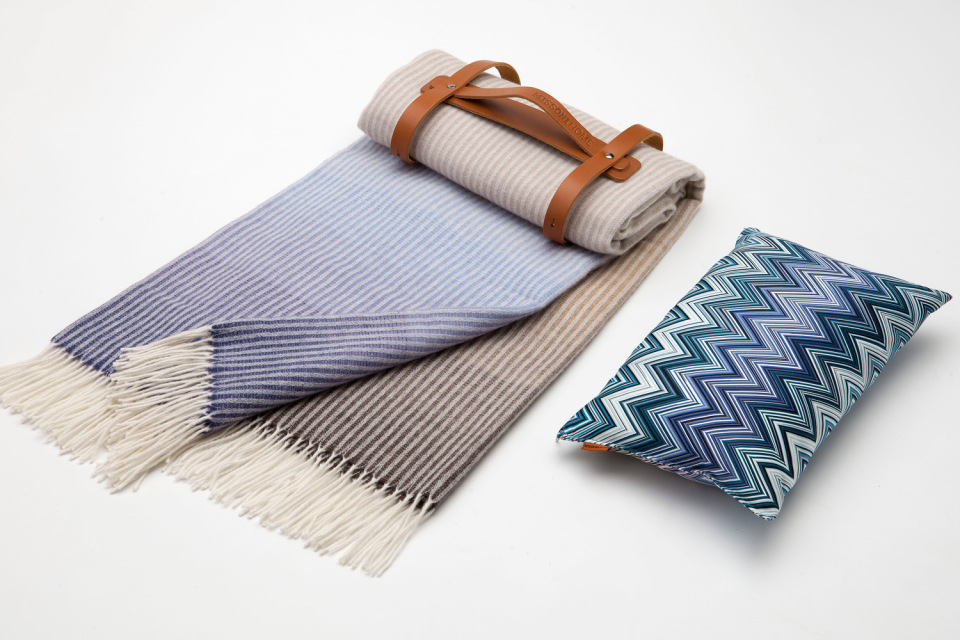 missoni to create a travel blanket pillow set for the four seasons