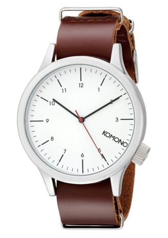KOMONO Magnus Analog Display Japanese Quartz Red Watch, $57