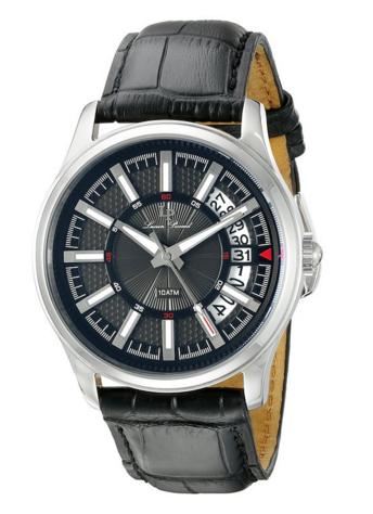 Lucien Piccard Men's Del Campo Analog Display Japanese Quartz Black Watch, $63