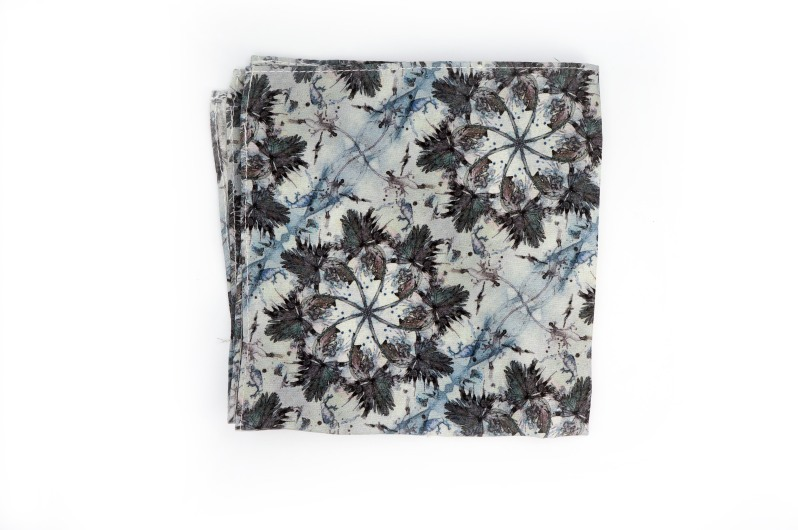 Eskayel x ZB Savoy Laurel Forest Thicket Pocket Square