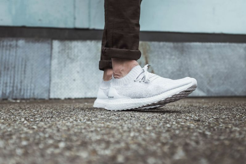 231896ad80014 A CLOSER LOOK AT THE ADIDAS ULTRA BOOST UNCAGED TRIPLE WHITE – APPARATUS