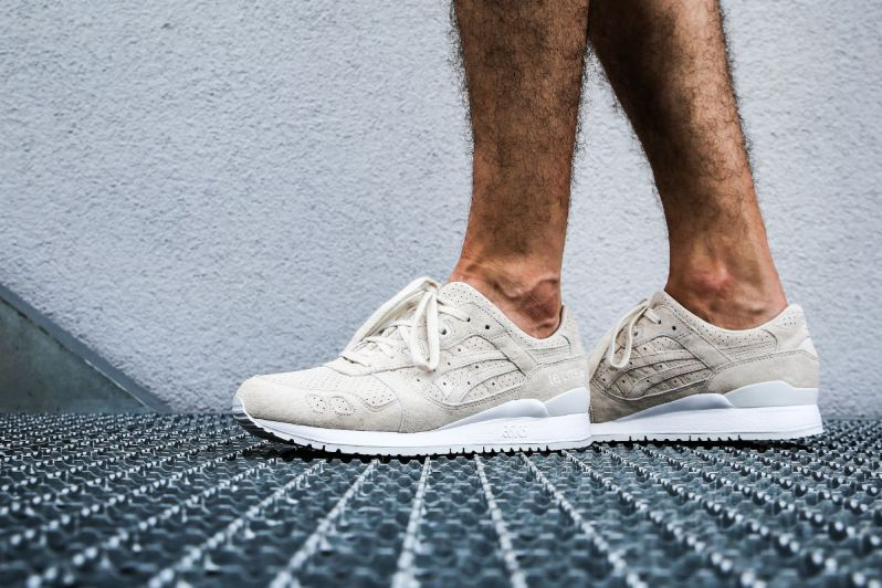 the best attitude c94b7 caa8b AN ON FEET LOOK AT THE ASICS GEL-LYTE III BIRCH SUEDE ...