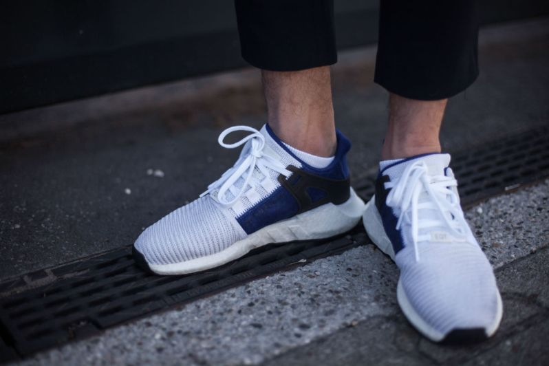 the best attitude beba7 f08b4 The Boost midsole and the black rubber outsole complete the look. The adidas  EQT Support 9317 White Royal is currently available at Inflammable.