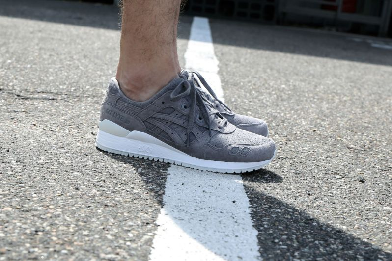huge selection of 4c64f 51b41 ON FEET LOOK AT THE ASICS GEL-LYTE III ALUMINUM SUEDE ...