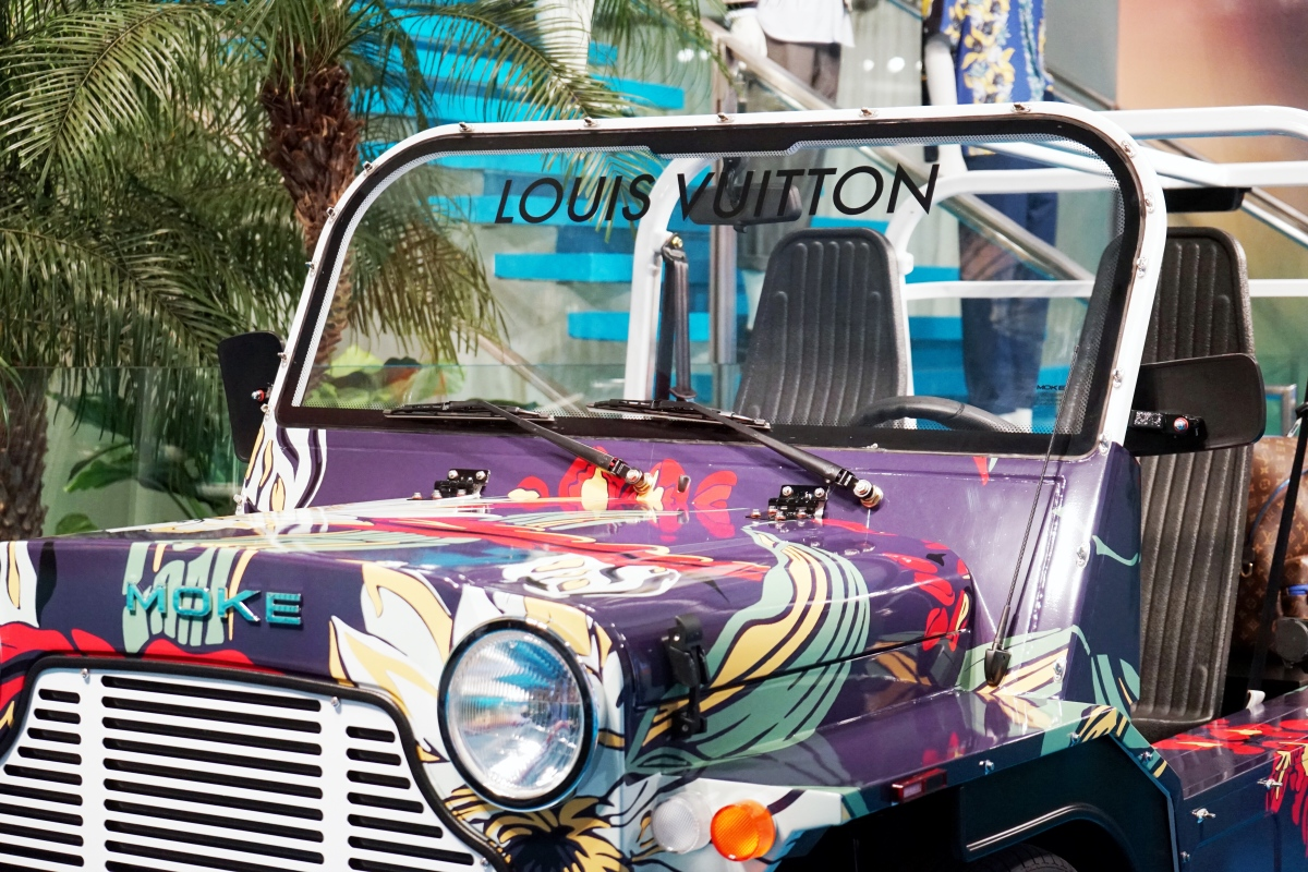 ICONIC MOKE DEBUTS CUSTOM CAR AT LOUIS VUITTON MEN'S POP-UP IN NYC